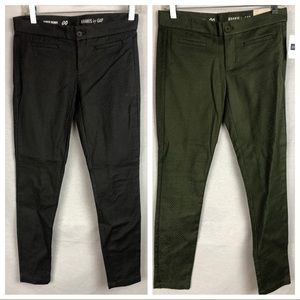 Two pair NWT Gap super skinny pants